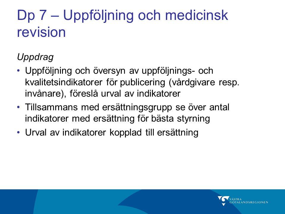 Dp 7 – Uppföljning och medicinsk revision