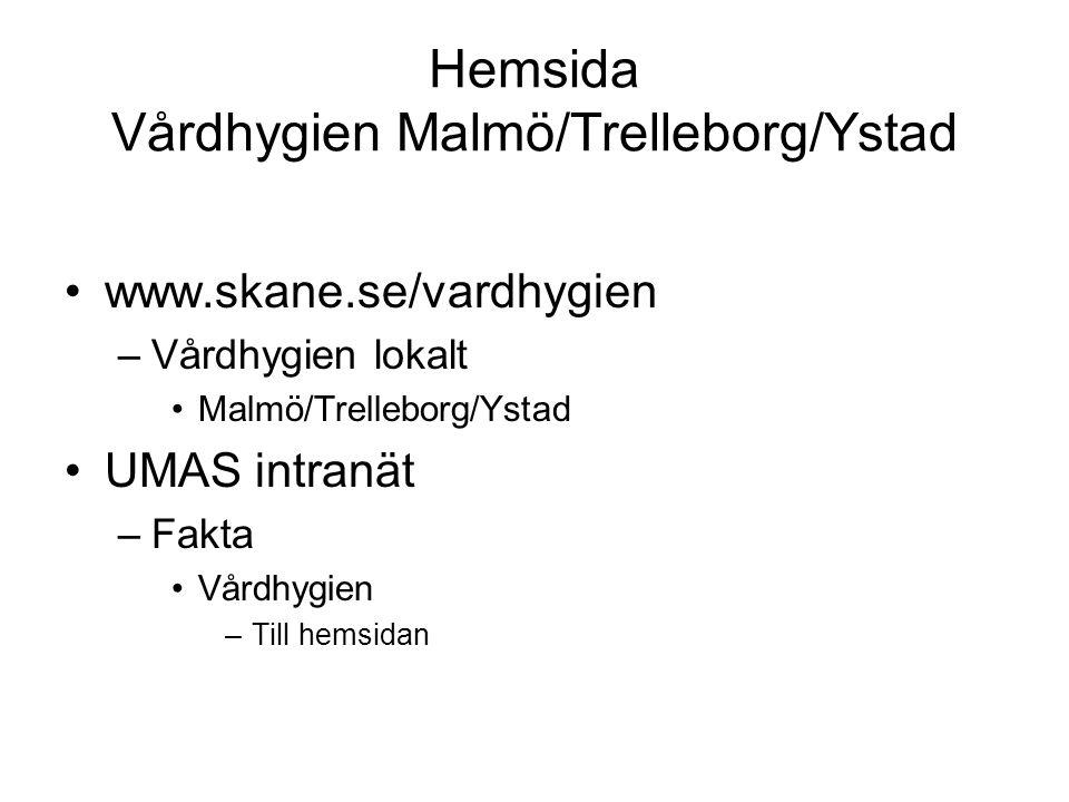 Hemsida Vårdhygien Malmö/Trelleborg/Ystad