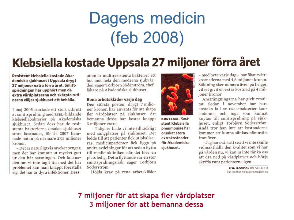 Dagens medicin (feb 2008) 7 miljoner för att skapa fler vårdplatser