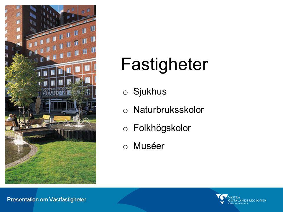 Fastigheter Sjukhus Naturbruksskolor Folkhögskolor Muséer