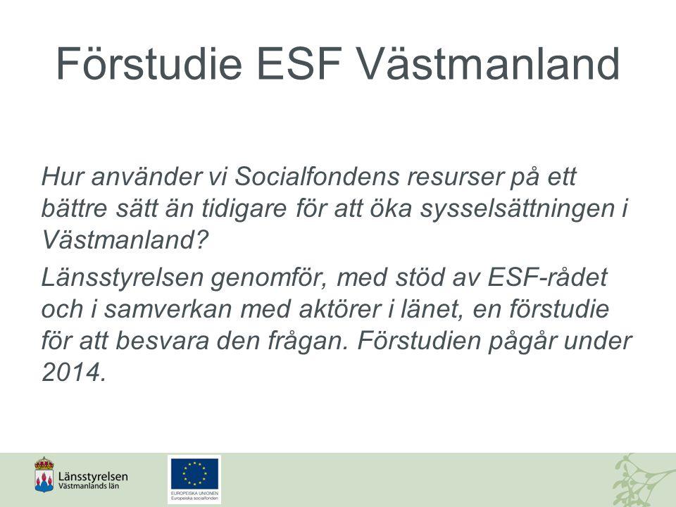 Förstudie ESF Västmanland