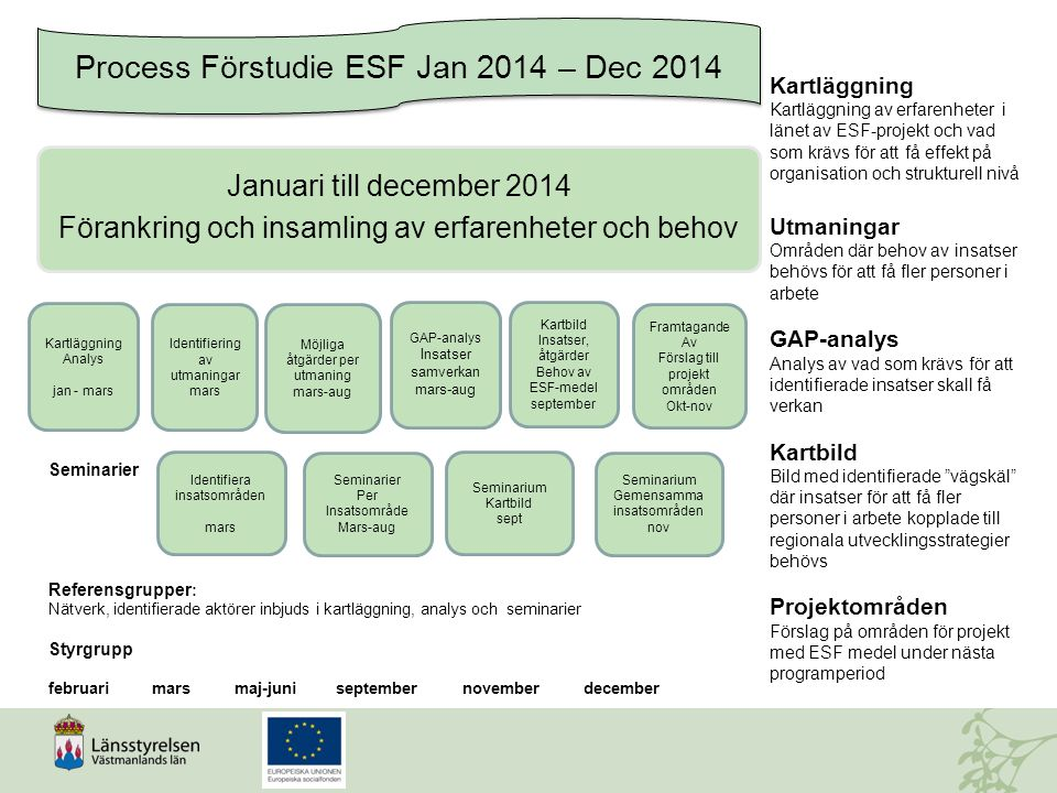 Process Förstudie ESF Jan 2014 – Dec 2014