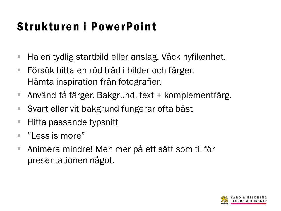 Strukturen i PowerPoint