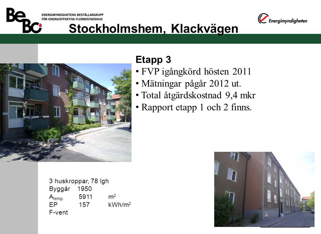 Stockholmshem, Klackvägen