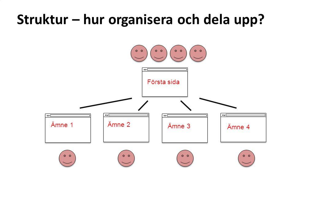Struktur – hur organisera och dela upp