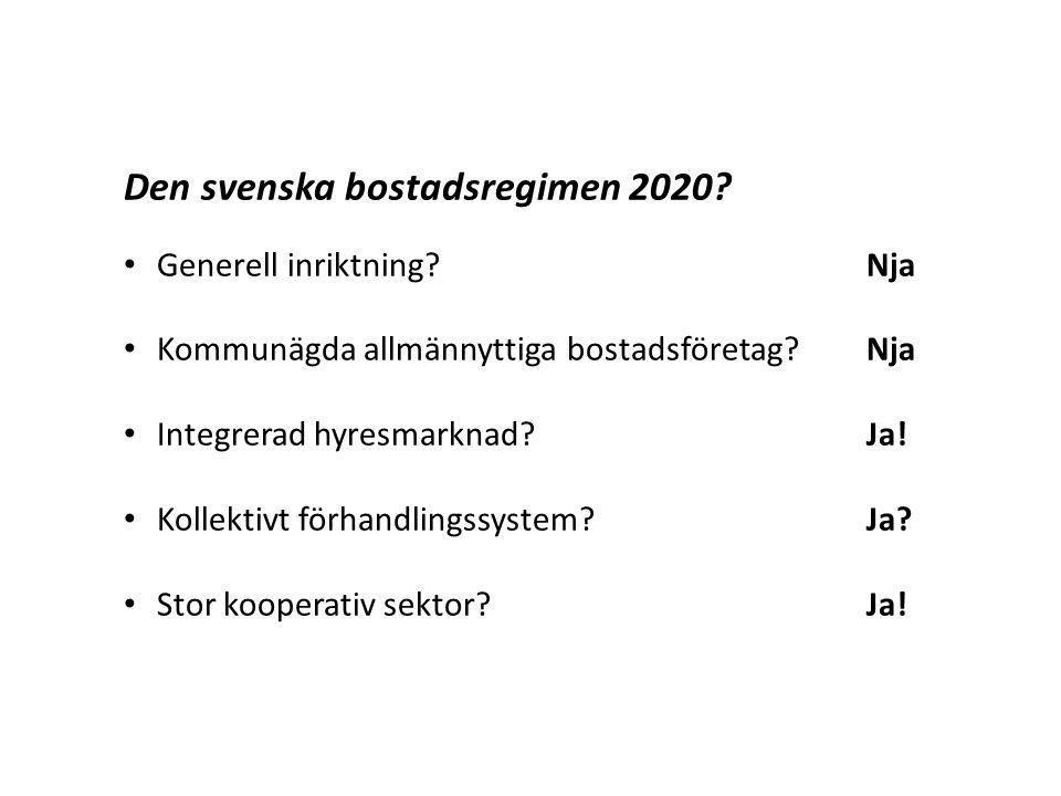 Den svenska bostadsregimen 2020