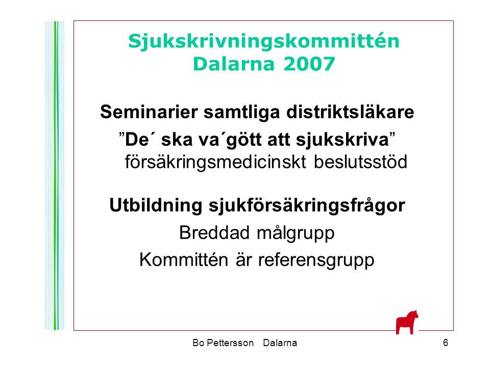 Sjukskrivningskommittén Dalarna 2007