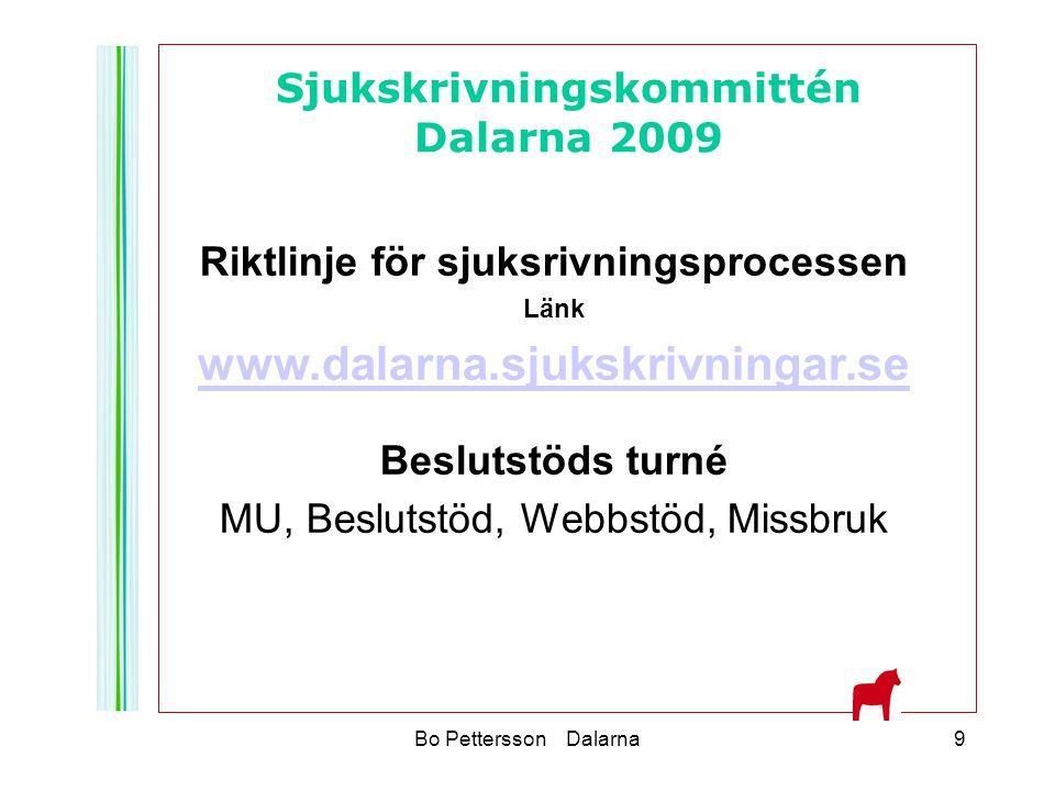 www.dalarna.sjukskrivningar.se Sjukskrivningskommittén Dalarna 2009