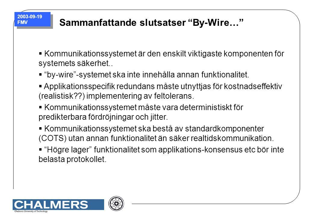 Sammanfattande slutsatser By-Wire…