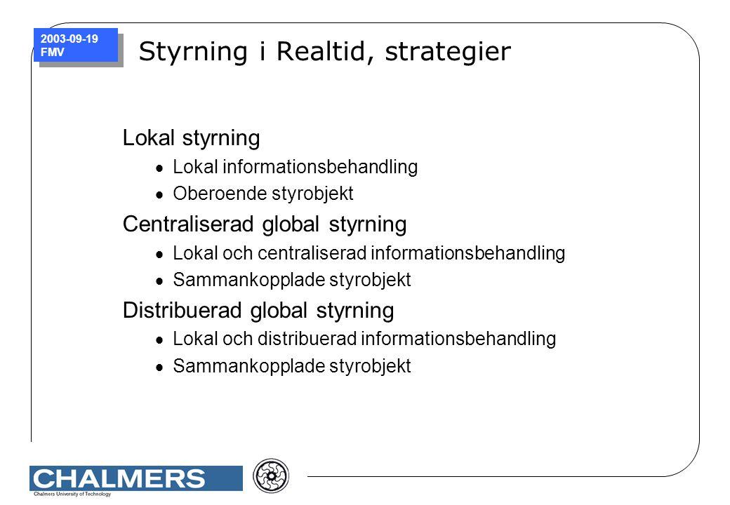 Styrning i Realtid, strategier