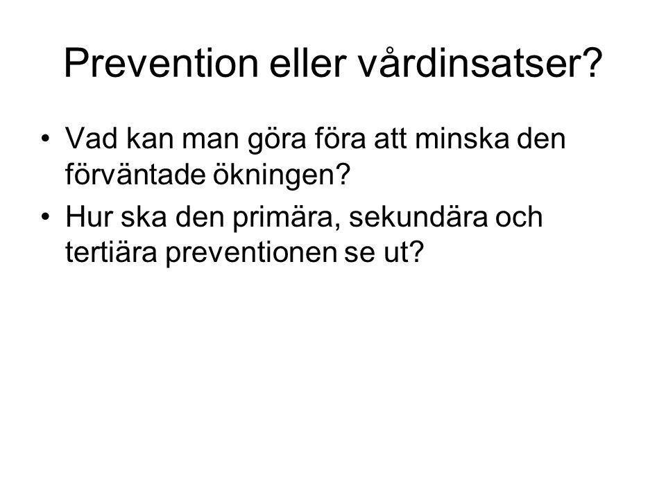 Prevention eller vårdinsatser
