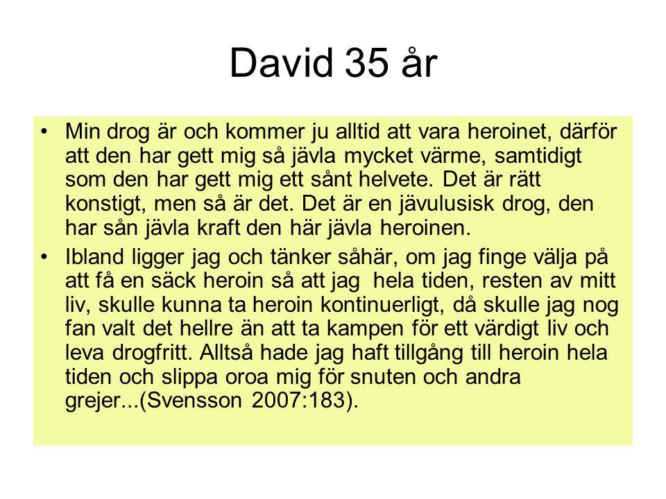 David 35 år
