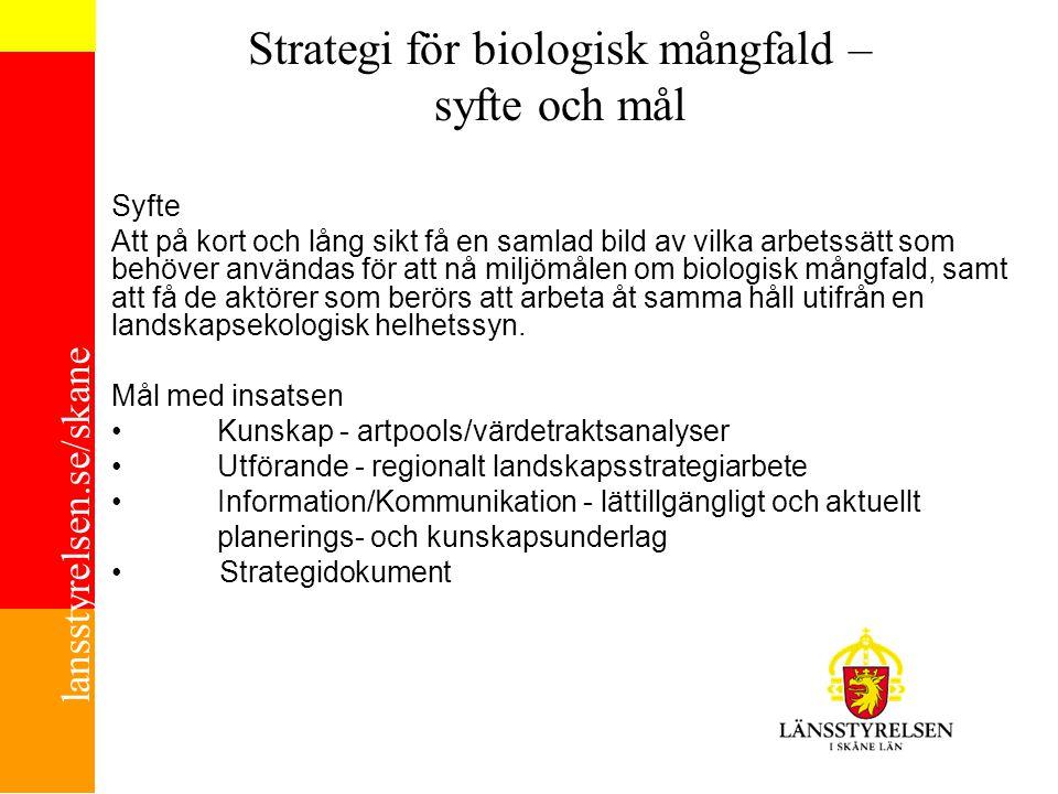 Strategi för biologisk mångfald – syfte och mål