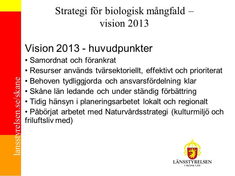Strategi för biologisk mångfald – vision 2013