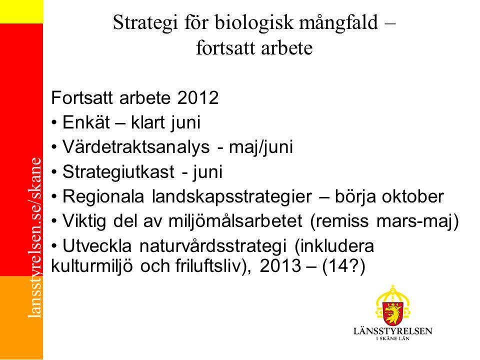 Strategi för biologisk mångfald – fortsatt arbete