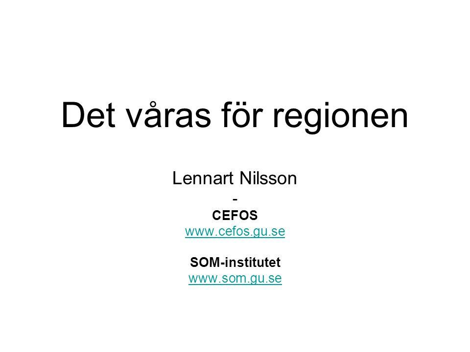 Lennart Nilsson - CEFOS www.cefos.gu.se SOM-institutet www.som.gu.se