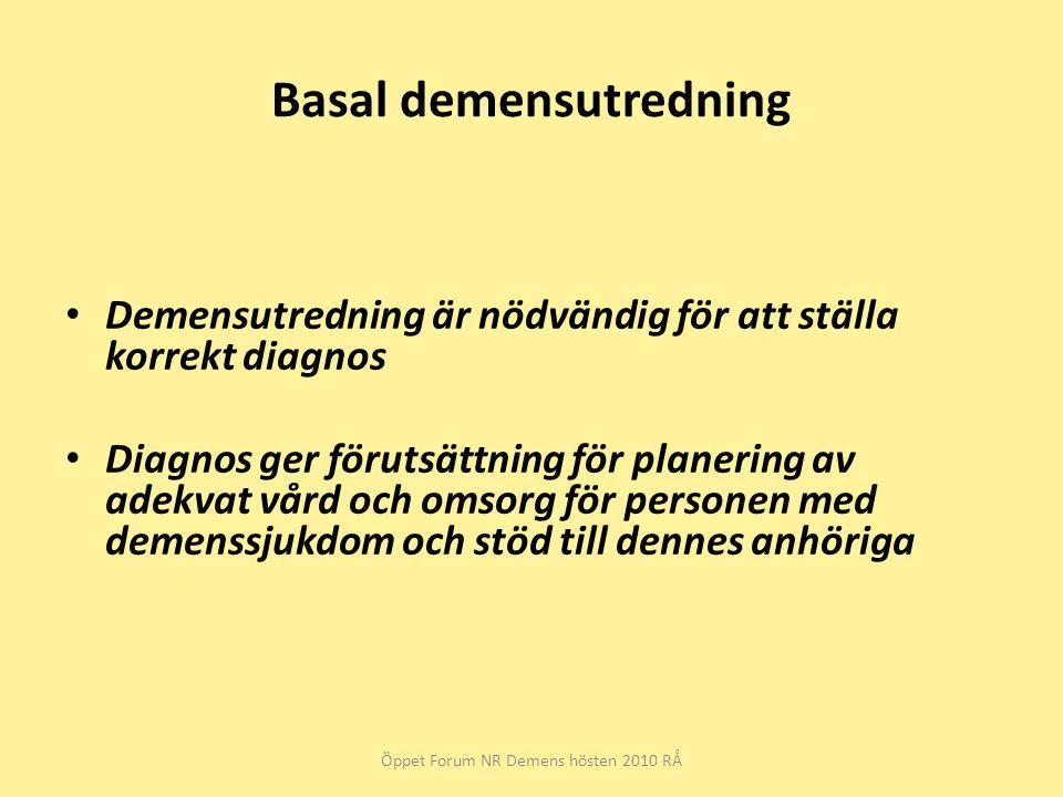 Basal demensutredning