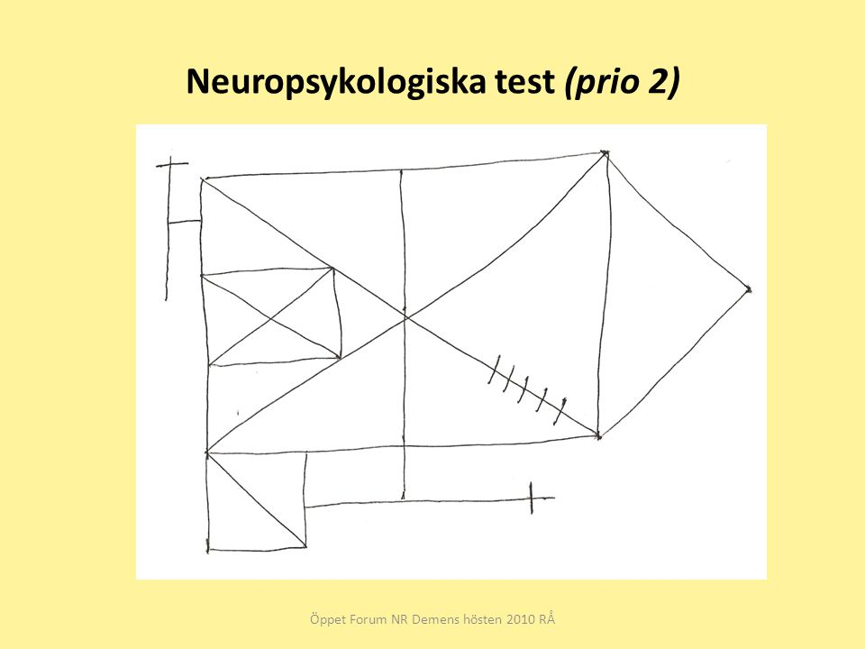 Neuropsykologiska test (prio 2)