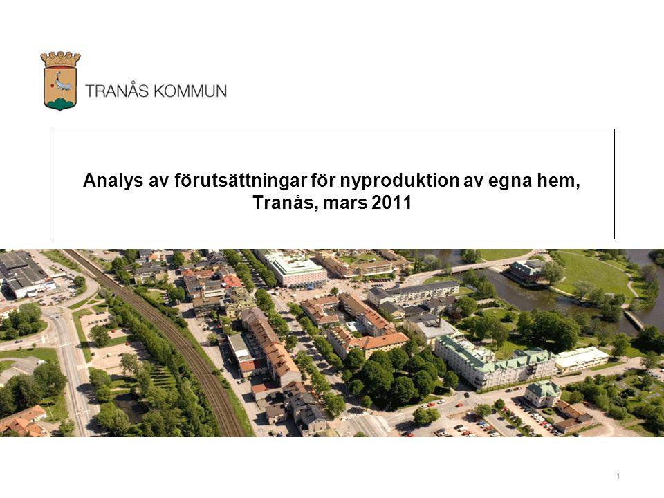 Analys av förutsättningar för nyproduktion av egna hem, Tranås, mars 2011
