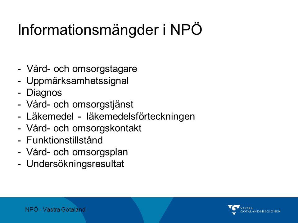 Informationsmängder i NPÖ