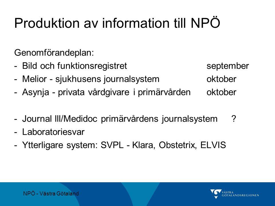 Produktion av information till NPÖ