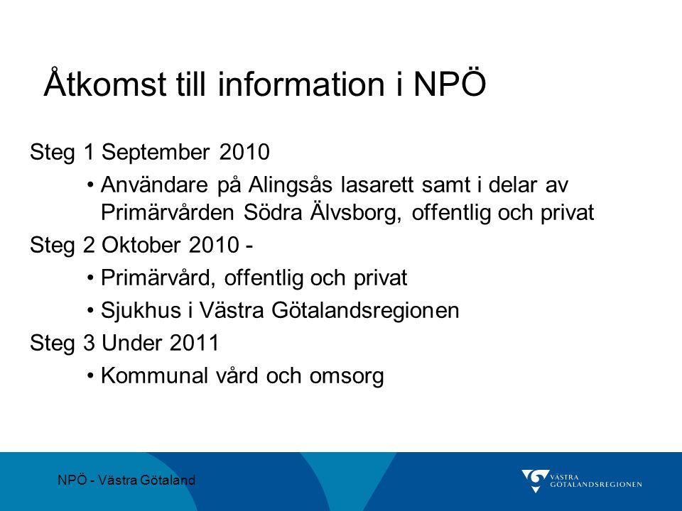 Åtkomst till information i NPÖ