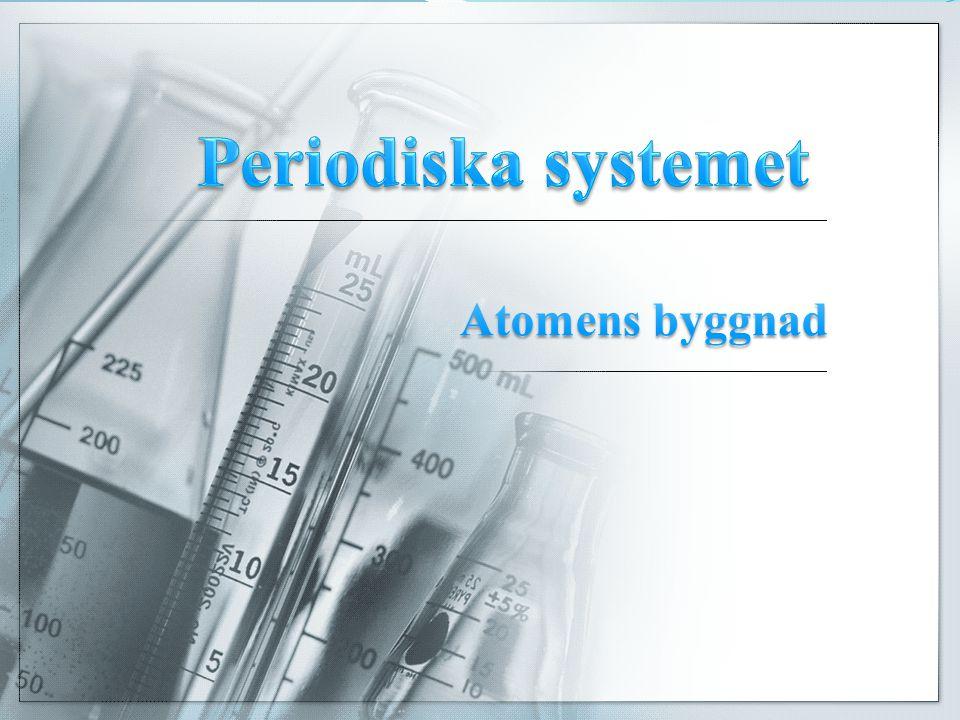 Periodiska systemet Periodiska systemet Periodiska systemet