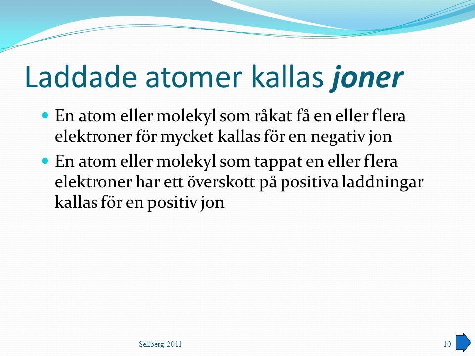 Laddade atomer kallas joner