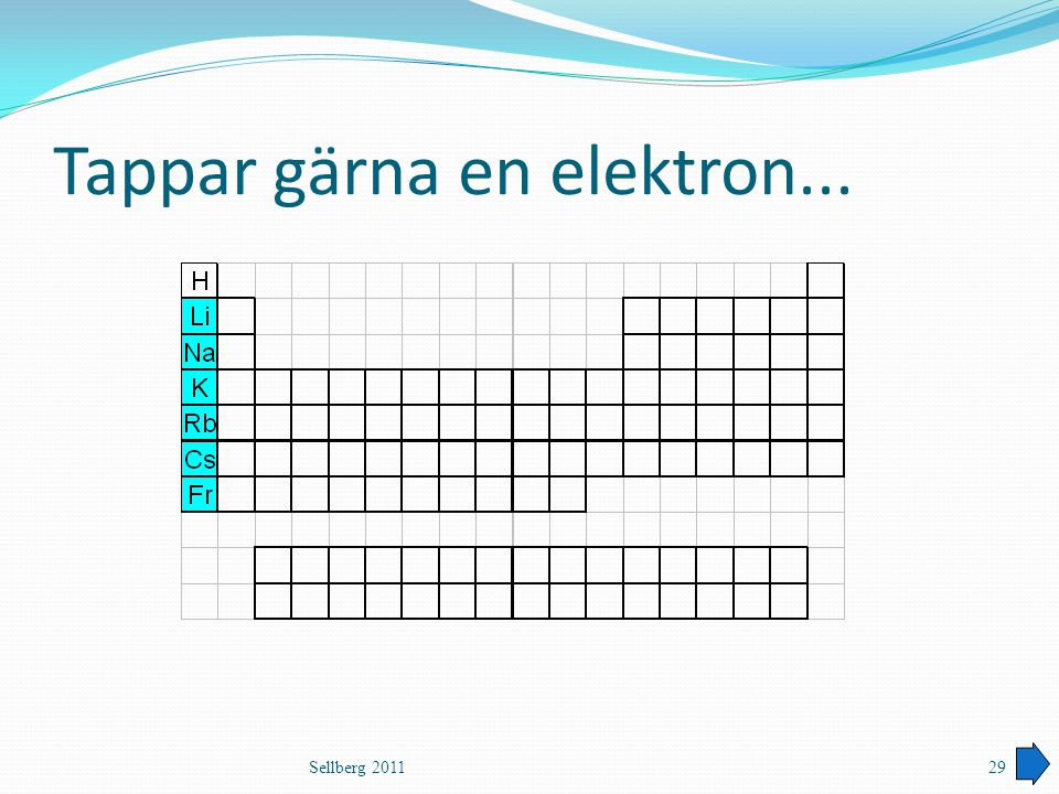 Tappar gärna en elektron...