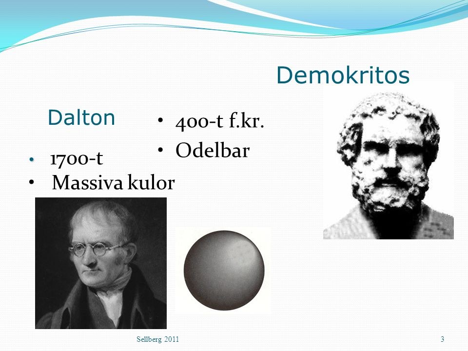 Demokritos Dalton 400-t f.kr. Odelbar Massiva kulor 1700-t