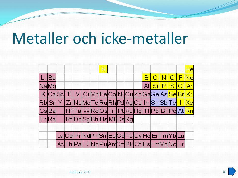 Metaller och icke-metaller