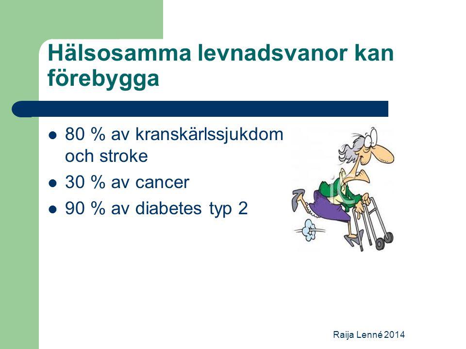 Hälsosamma levnadsvanor kan förebygga