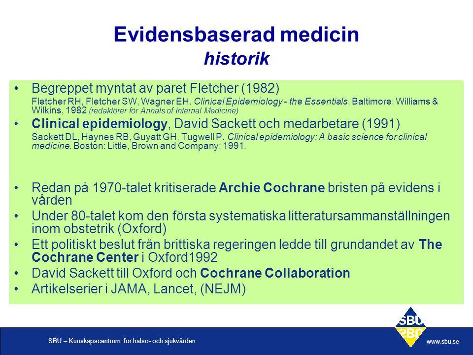 Evidensbaserad medicin historik