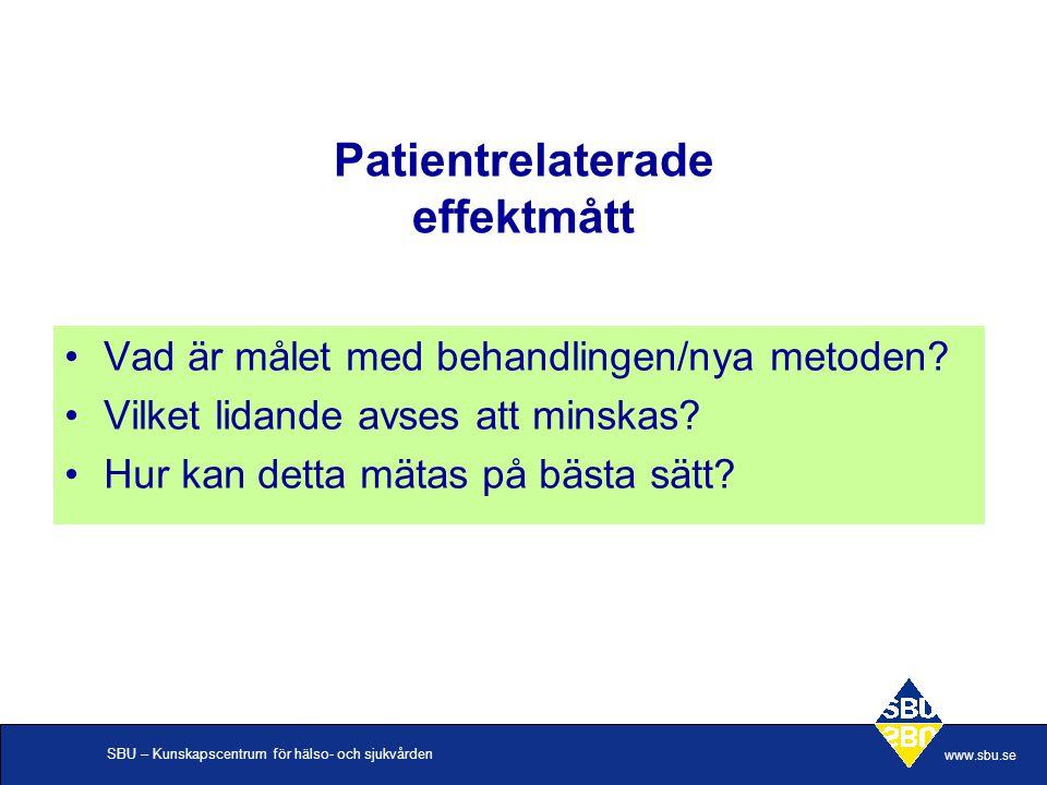 Patientrelaterade effektmått