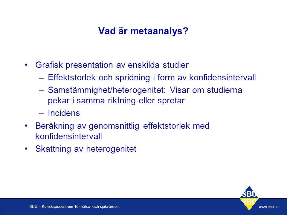 Vad är metaanalys Grafisk presentation av enskilda studier