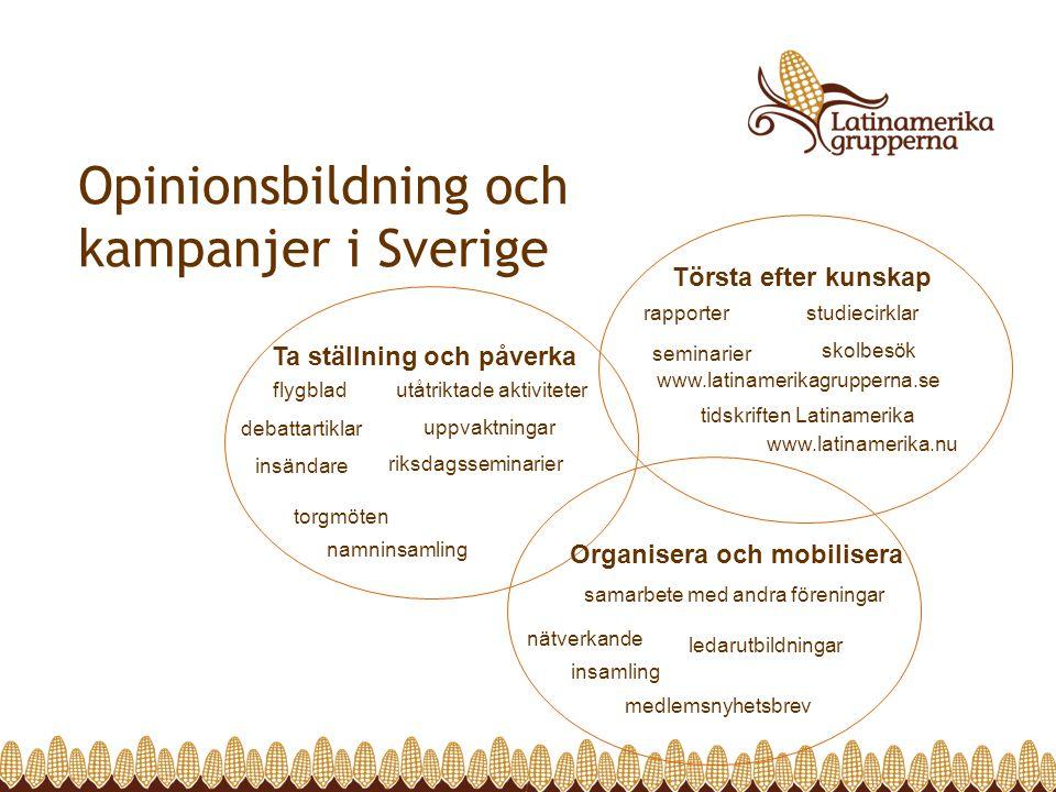 Opinionsbildning och kampanjer i Sverige