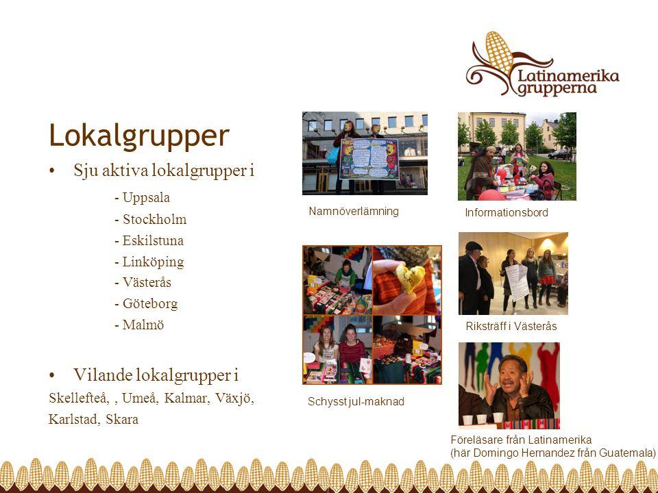 Lokalgrupper Sju aktiva lokalgrupper i - Uppsala
