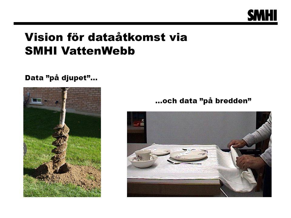 Vision för dataåtkomst via SMHI VattenWebb
