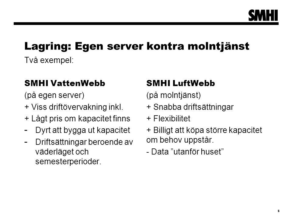 Lagring: Egen server kontra molntjänst