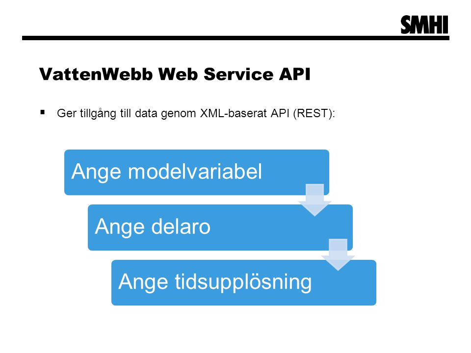 VattenWebb Web Service API