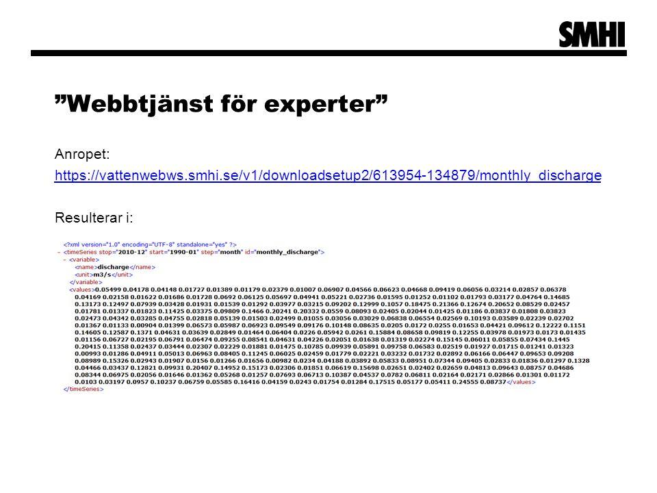 Webbtjänst för experter