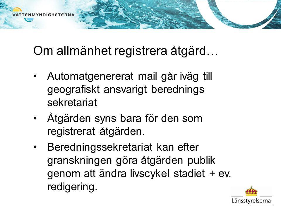 Om allmänhet registrera åtgärd…