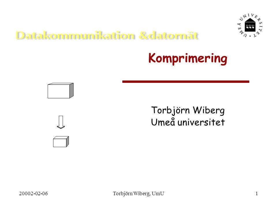 Torbjörn Wiberg Umeå universitet