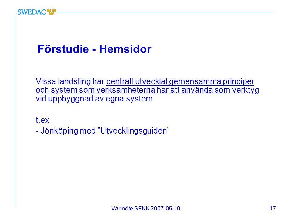 Förstudie - Hemsidor t.ex - Jönköping med Utvecklingsguiden