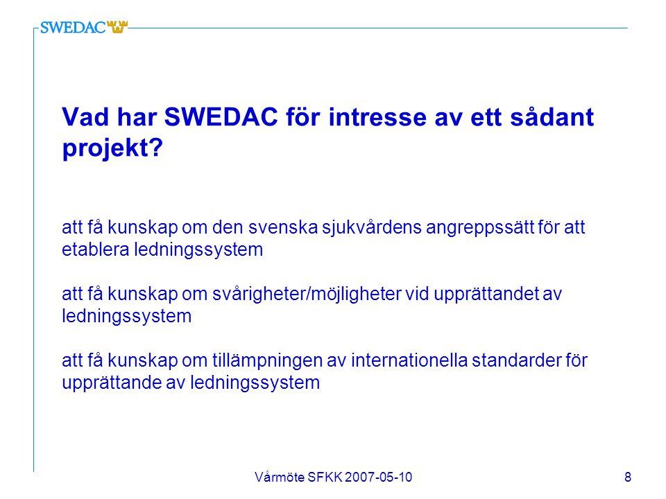 Vad har SWEDAC för intresse av ett sådant projekt