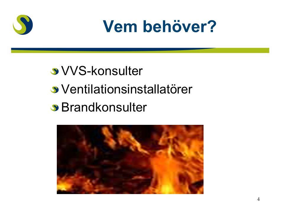 Vem behöver VVS-konsulter Ventilationsinstallatörer Brandkonsulter