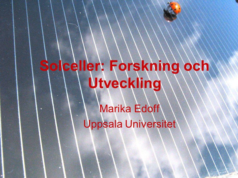 Solceller: Forskning och Utveckling