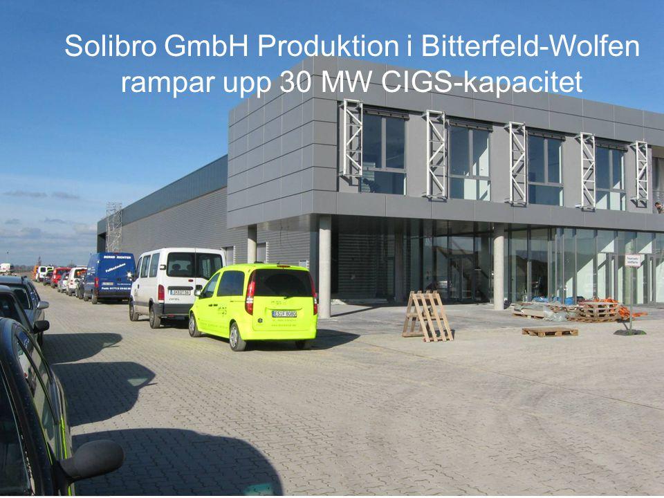 Solibro GmbH Produktion i Bitterfeld-Wolfen