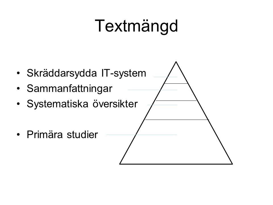 Textmängd Skräddarsydda IT-system Sammanfattningar
