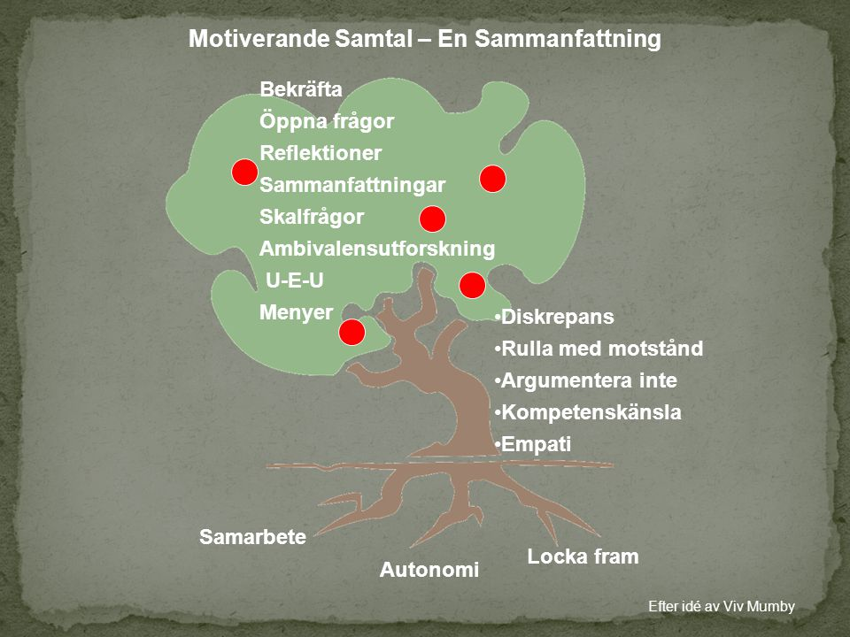 Motiverande Samtal – En Sammanfattning